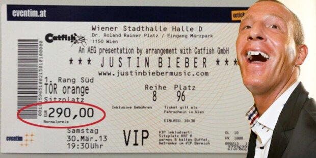 Petzner: 290 Euro für Bieber-Ticket