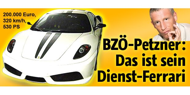 Petzner und sein Dienst-Ferrari