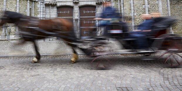 Aus Pferdekutsche geschleudert: Zwei Verletzte