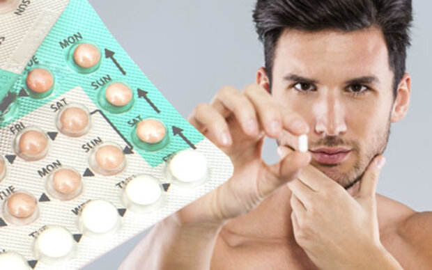 Mann nimmt pille