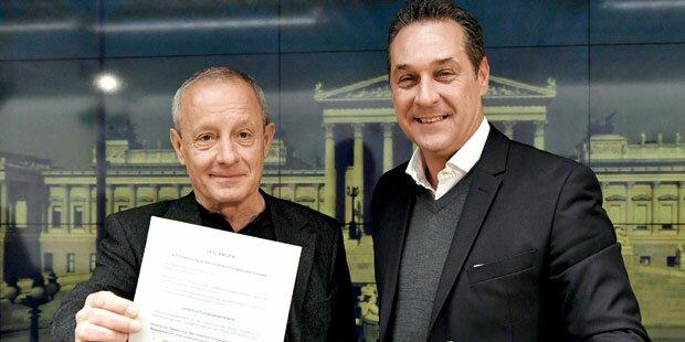 Pilz & Strache starten U-Ausschuss