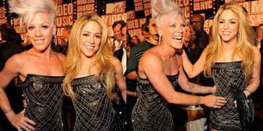 Pink Shakira gleiches Kleid