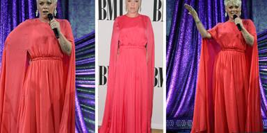 Pink im pinken Zelt-Outfit