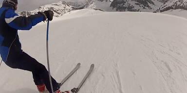 Pistenrowdy flüchtet nach brutalem Skiunfall