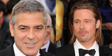 George Clooney und Brad Pitt