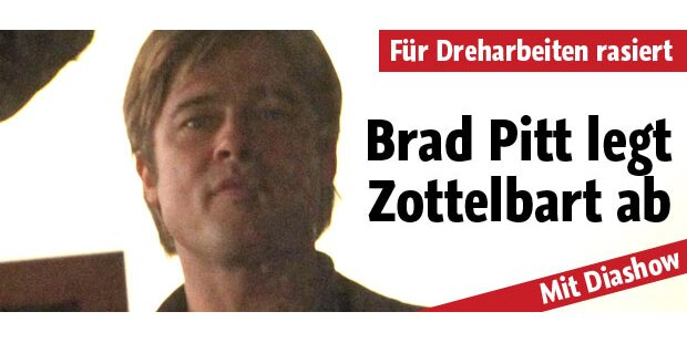 Brad Pitt: Endlich ist Zottelbart weg!