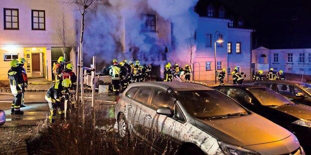 Pizzeria brannte nach Explosion aus