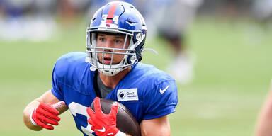 Platzgummer verpasst Sprung in Kader von NY Giants