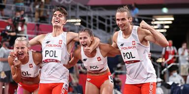 Polen holt überraschend Gold bei Premiere