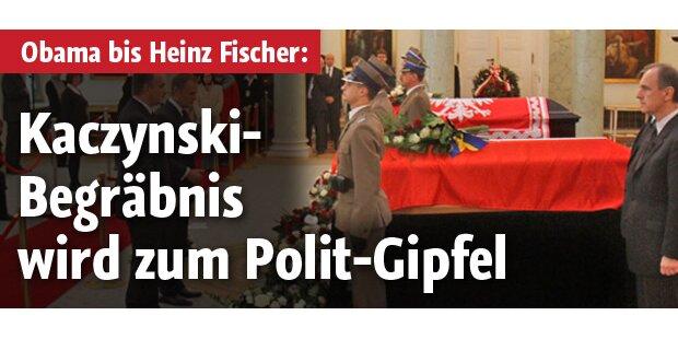 Polen: Begräbnis wird zu Politikgipfel
