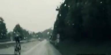Polizei verfolgt Radfahrer auf Autobahn
