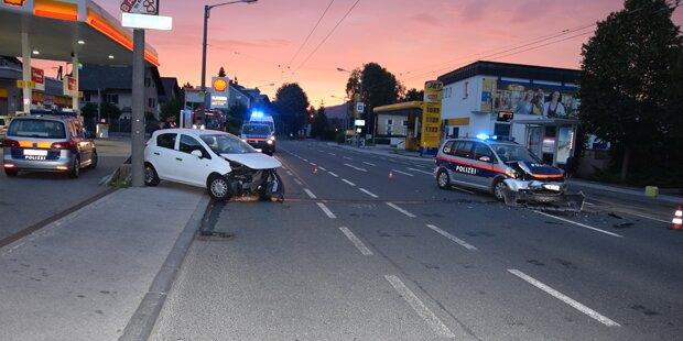 Alkolenker schießt Polizei in Salzburg ab