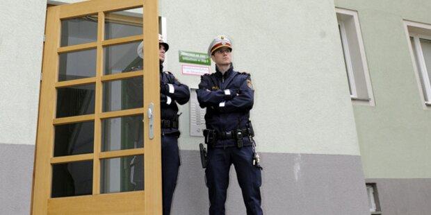Frau biss Polizisten in den Arm