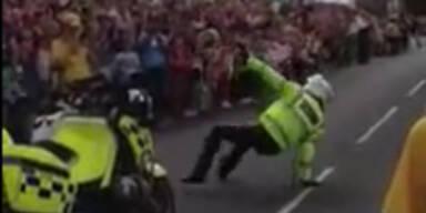 Polizisten-Breakdance auf offener Straße