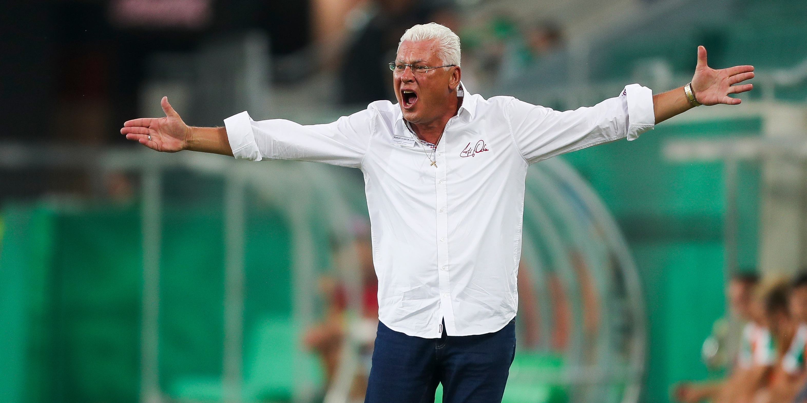 Wiener Viktoria Coach Toni Polster regt sich gegen Rapid auf