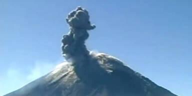 Vulkan Popocatepetl kurz vor Ausbruch