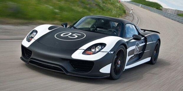 Erlkönig des Porsche 918 Spyder auf Testfahrt