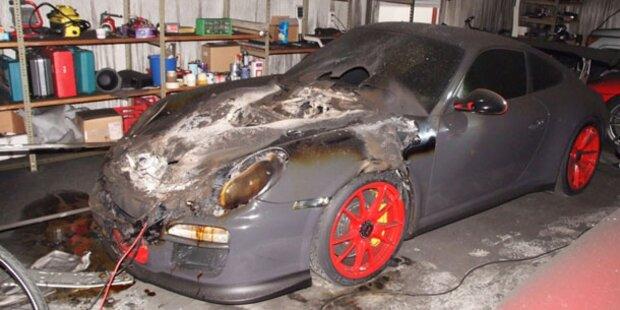 Moderne Starterbatterie fackelt Porsche ab