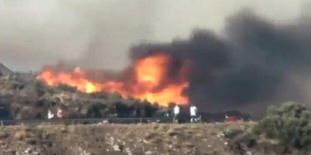 Portbou: Waldbrände wüteten in Katalonien