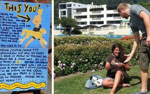 Mit Poster zum Traummann : Romantische Suche hat ein Happy End