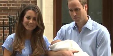 Kate und William zeigen ihren kleinen Prinzen