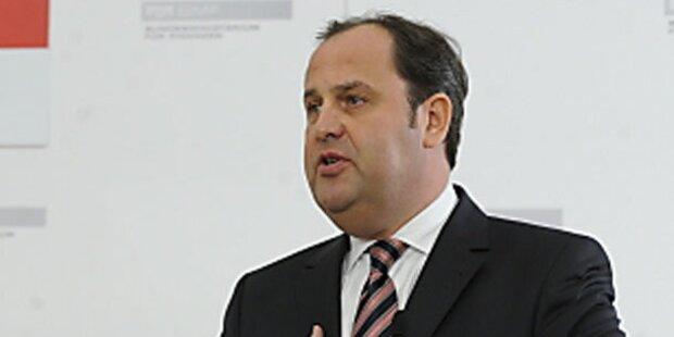 Rücktrittsrede von Vizekanzler Pröll