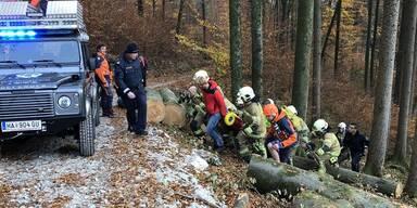 Feuerwehr Golling  Einsatz Forstunfall Bluntautal