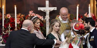 Baby-Prinz Gabriel in Schweden getauft