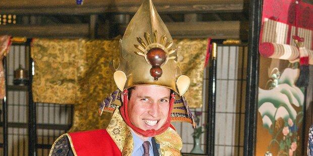 Prinz William schlüpft in Samurai-Montur