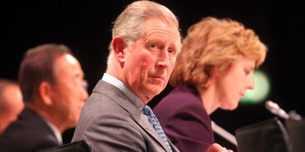 Prinz Charles spielte Wetterfrosch
