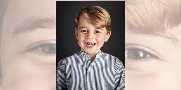 So feiert der süße Prinz George seinen vierten Geburtstag