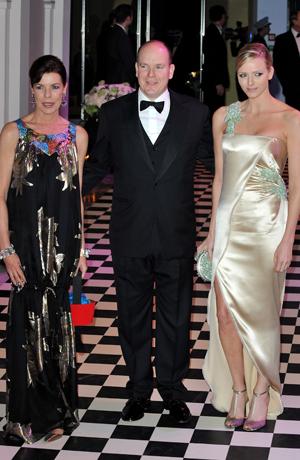 Prinzessin Caroline von Hanover, Prinz Albert II von Monaco und Charlene Wittstock