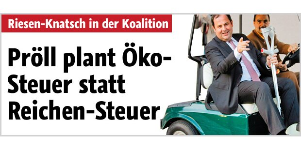 Pröll plant Öko- statt Reichen-Steuer