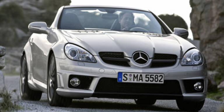 Mercedes SLK 55 AMG mit mehr Power und neuer Optik