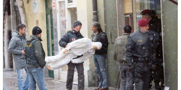 Viel Polizei bei Lokalaugenschein