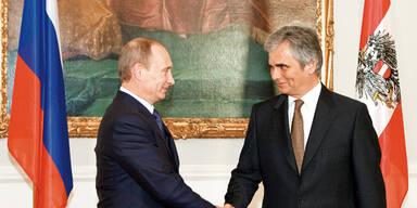Putin besucht Fischer und Faymann