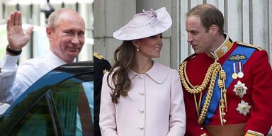 Putin, William und Kate