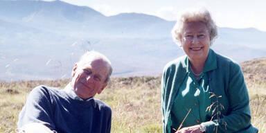 Vor Begräbnis: Queen teilt privates Foto mit Prinz Philip