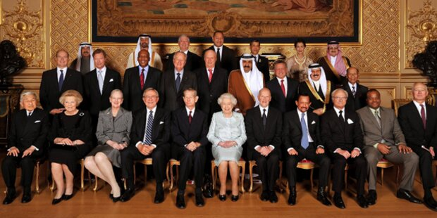 58 Könige zu Gast bei der Queen