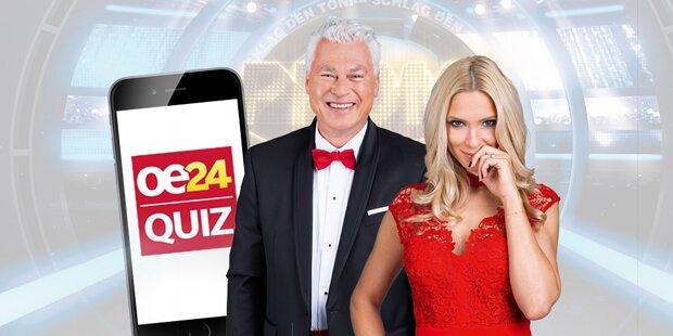 Jetzt downloaden: Die neue oe24 Quiz App