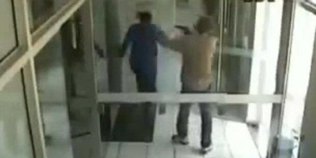 Bankräuber schießt sich selbst ins Bein