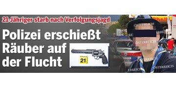 Neunkirchen: Polizei erschießt Räuber auf der Flucht