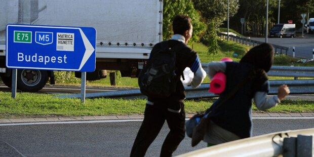 Ungarn: Geflohene Flüchtlinge gaben auf