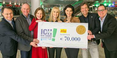 70.000 Euro für RETTET DAS KIND SALZBURG