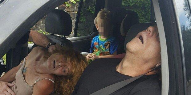 Schock-Foto: 4-Jähriger aus Drogen-Auto befreit