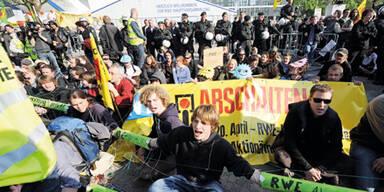 RWE Protest Schüssel