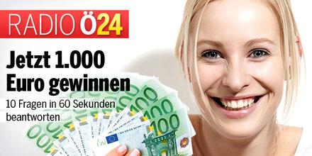 1.000 Euro gewinnen in nur 60 Sekunden - jetzt mit Radio ö24