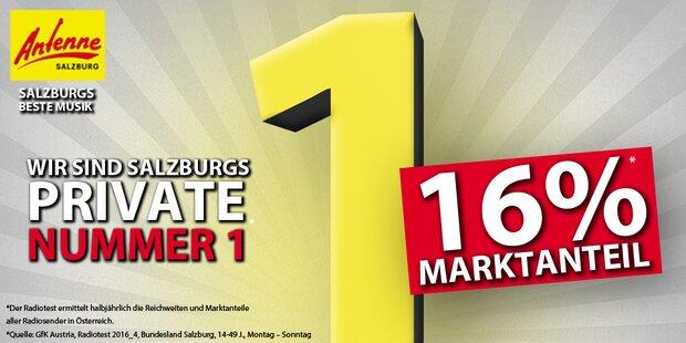 Antenne Salzburg baut Nummer 1 Position weiter aus