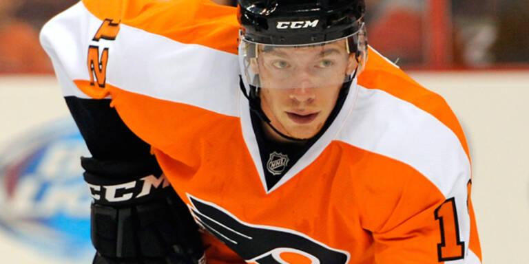Raffl feiert ersten NHL-Sieg mit Philadelphia