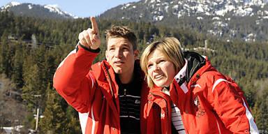 Raich zeigte Schild Whistler abseits der Ski-Piste